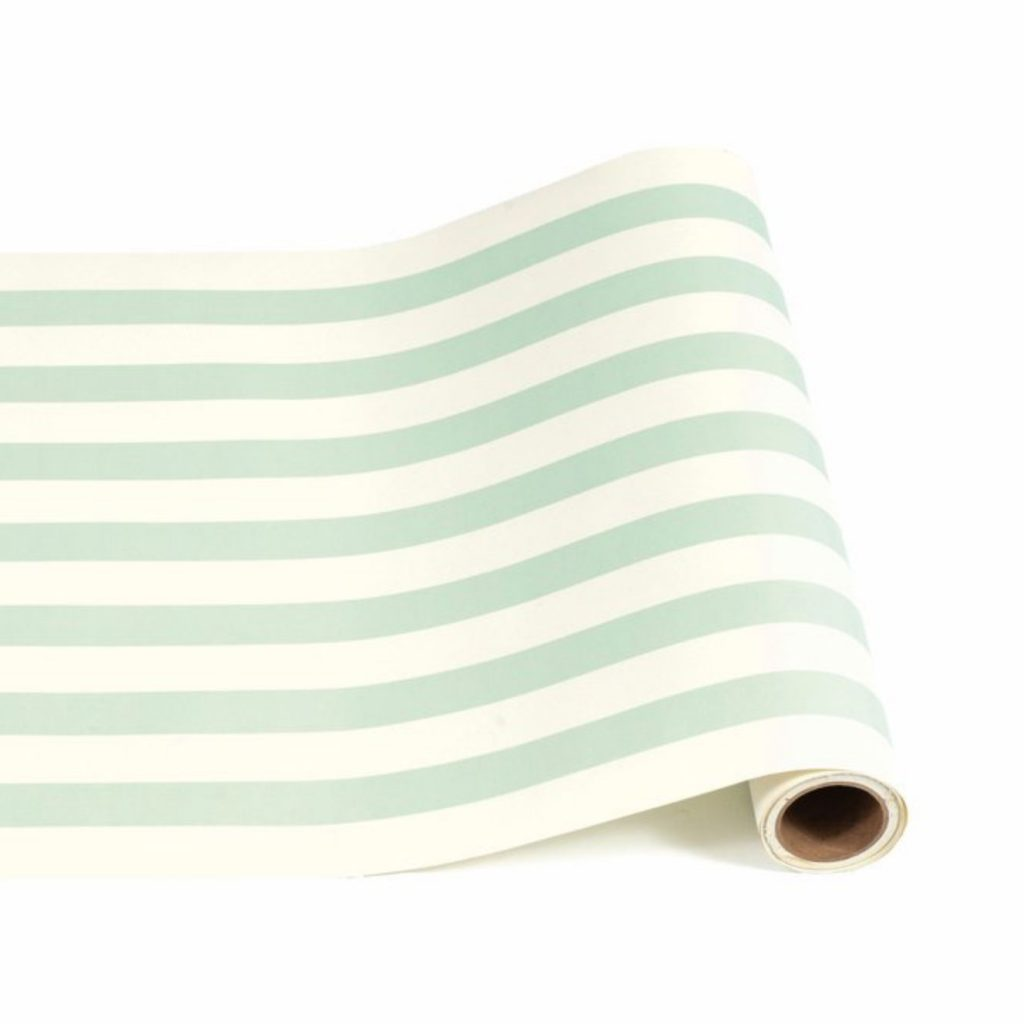 Hester-&-Cook-Paper-table-runner-in-seafoam-stripe,-£29-(300in),-Trouva