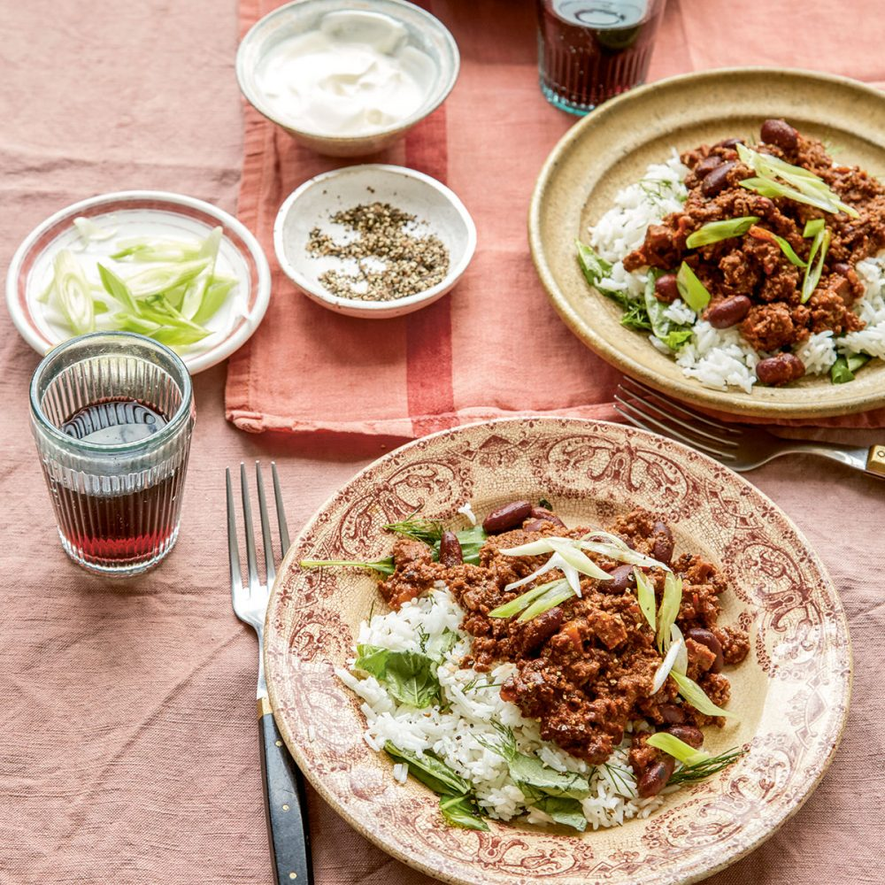 Megan Davies' Chilli and Chocolate Con Carne