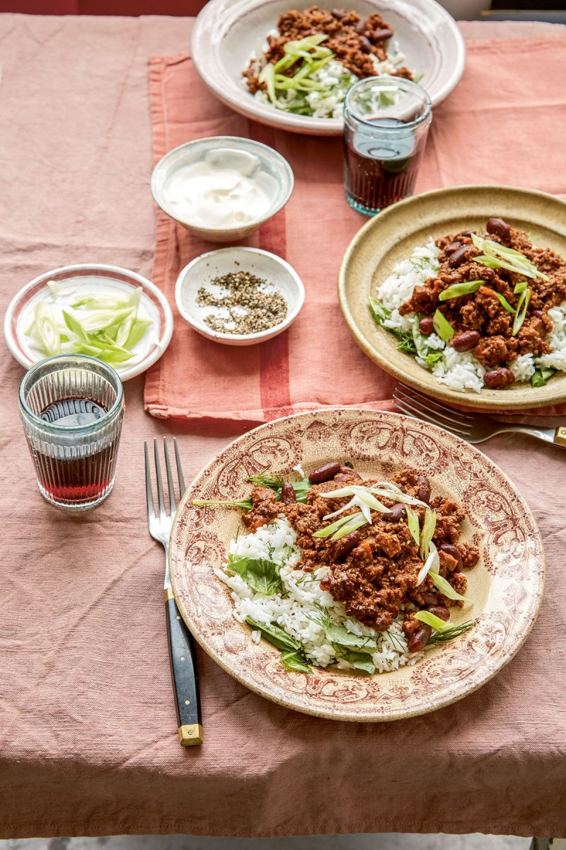 Chilli and chocolate con carne from Home Bird by Megan Davies