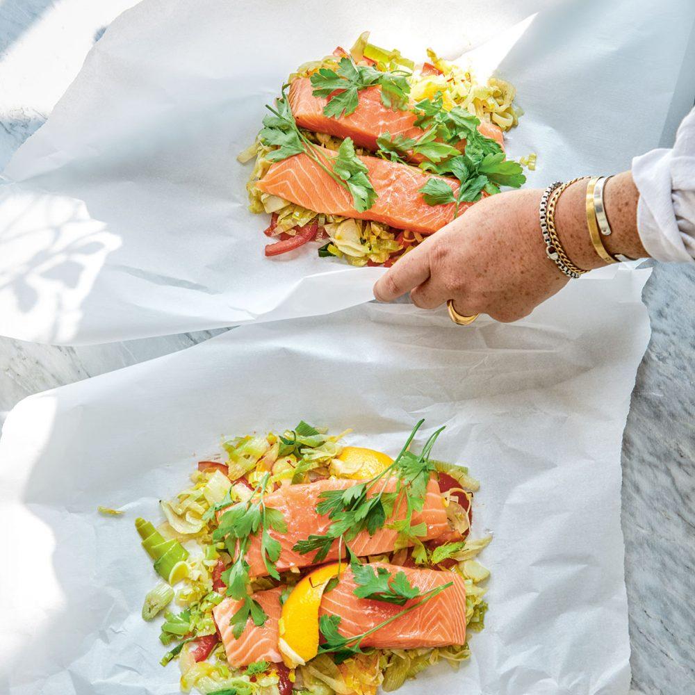Megan Davies' Provence Salmon Parcels