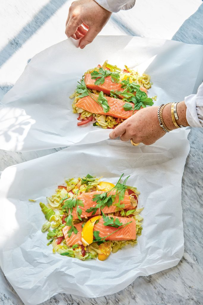 Provence salmon parcels from Home Bird by Megan Davies