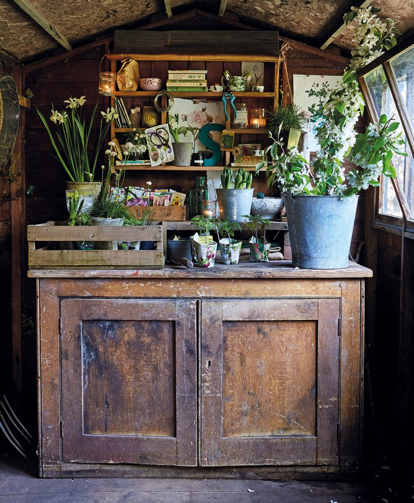 Selina Lake's potting shed in Shed Stle by Selina Lake ©Ryland, Peters & Small