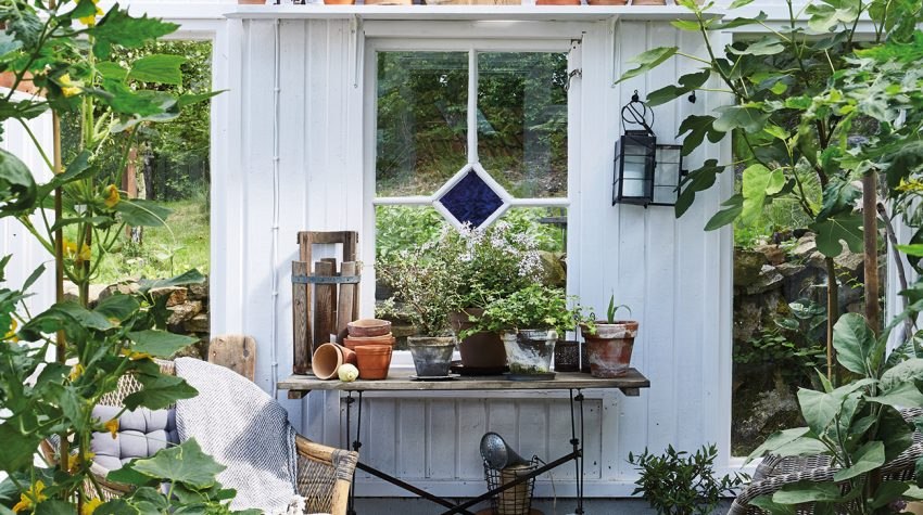 Peter Wallin's greenhouse in Sweden from Style by Selina Lake ©Ryland, Peters & Small