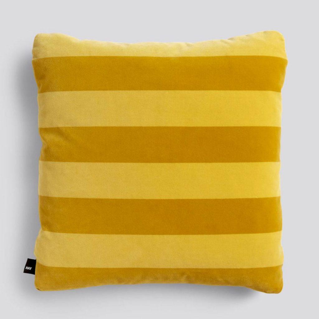 Soft-stripe-velvet-cushion,-50x50cm,-£79,-Hay