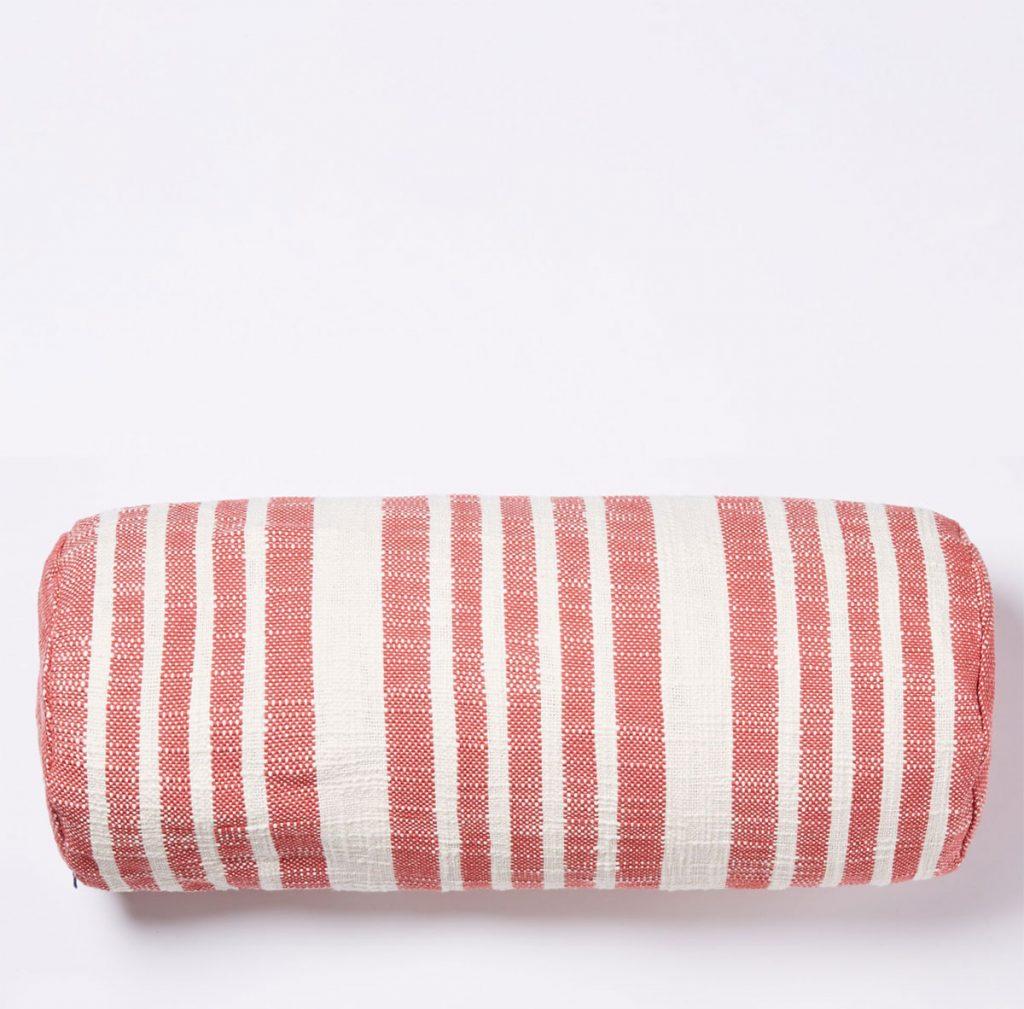 Woven-stripe-bolster-cushion-cover,-£48.76,-The-Conran-Shop