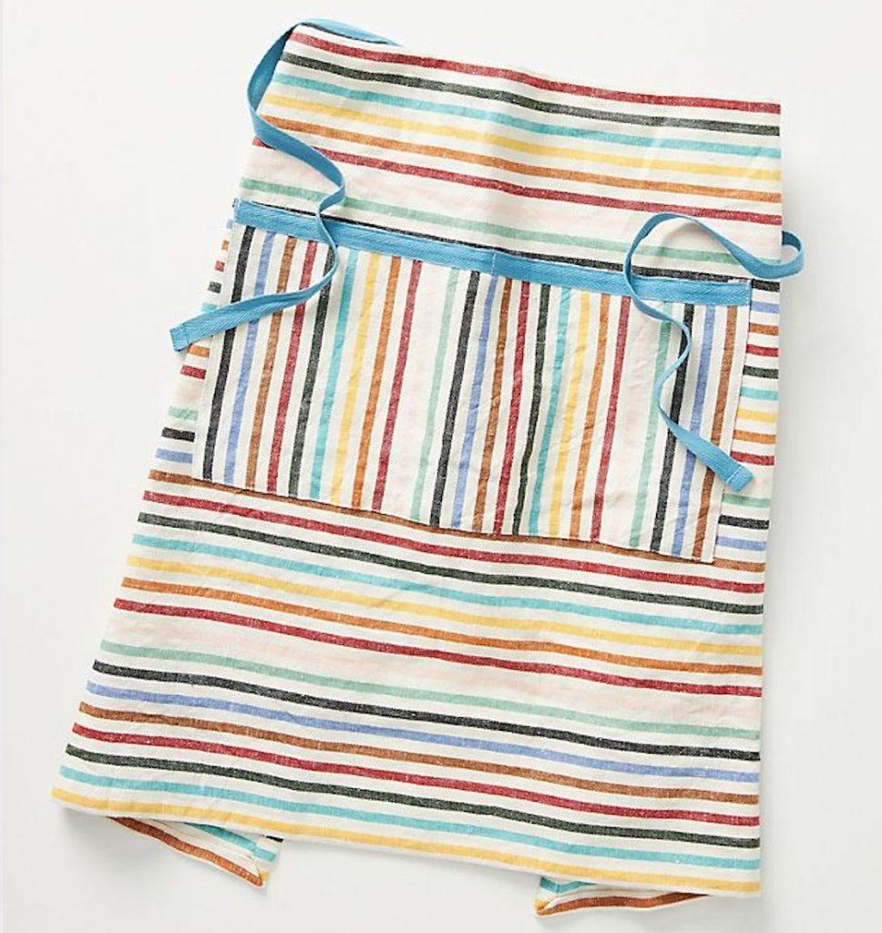 Ziggy-rainbow-striped-half-apron,-£24,-Anthropologie