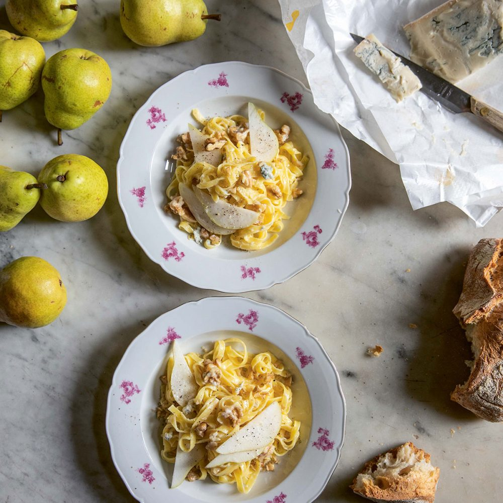 Skye McAlpine's Tagliatelle with Gorgonzola, Pear and Walnut