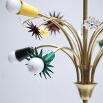 1950s brass French chandelier Vinterior