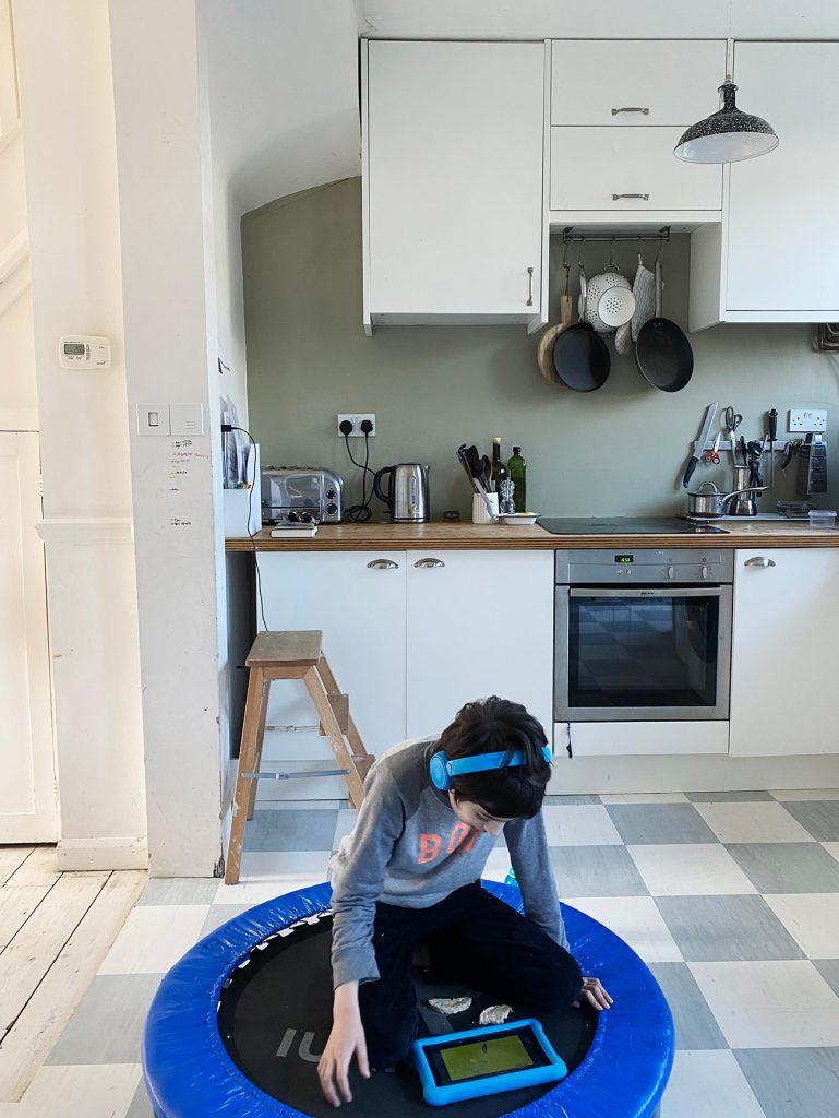 Arthur kitchen trampoline ©Penny Wincer