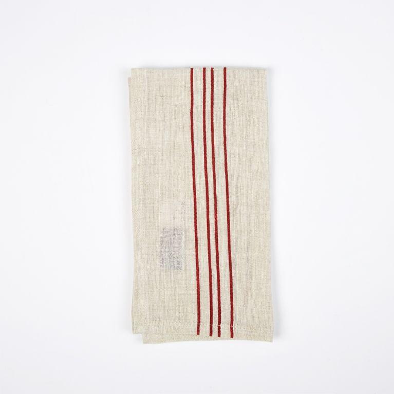 Vintage red stripe napkin Conran Shop