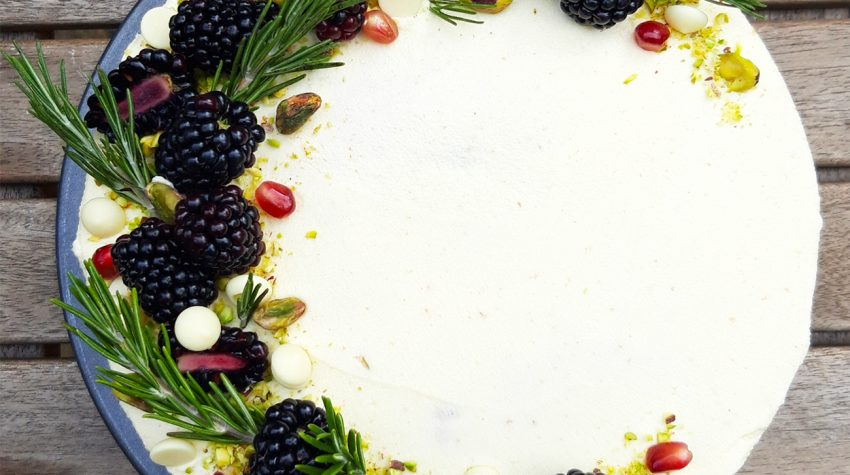 Pistachio, Blackberry & White Chocolate Cake c. Rachel Stonehouse, Luminary Bakery