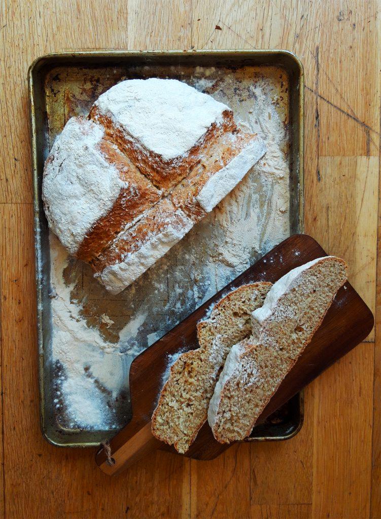 Roasted Garlic Irish Soda Bread ©Rachel Stonehouse, Luminary Bakery