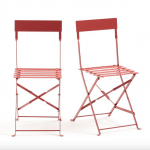 Folding metal chairs La Redoute