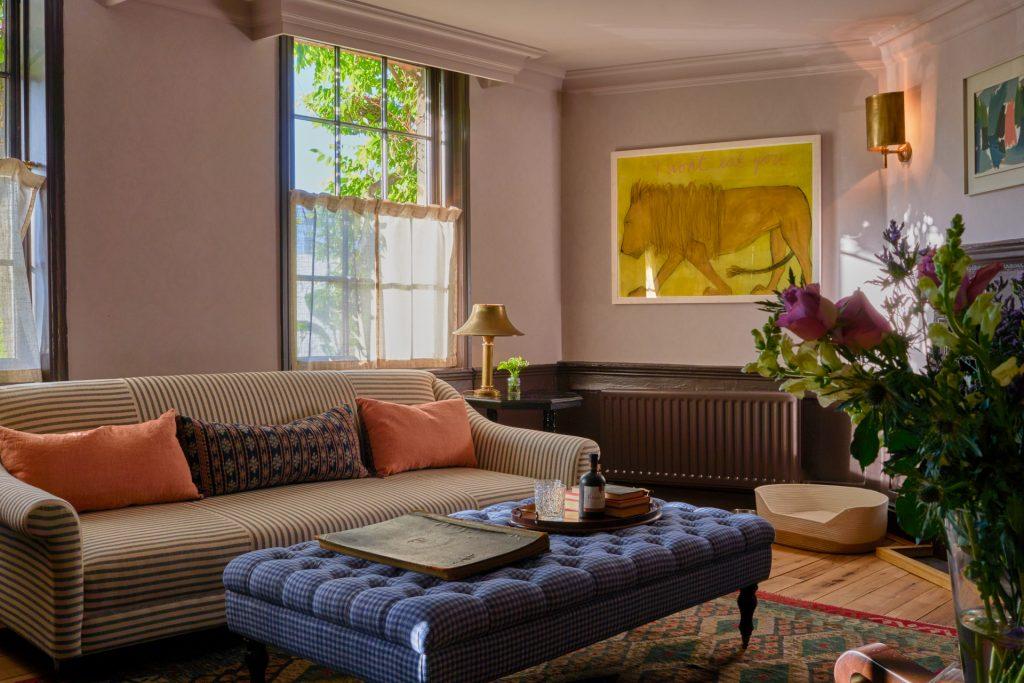 The Mitre reception sofa ottoman art