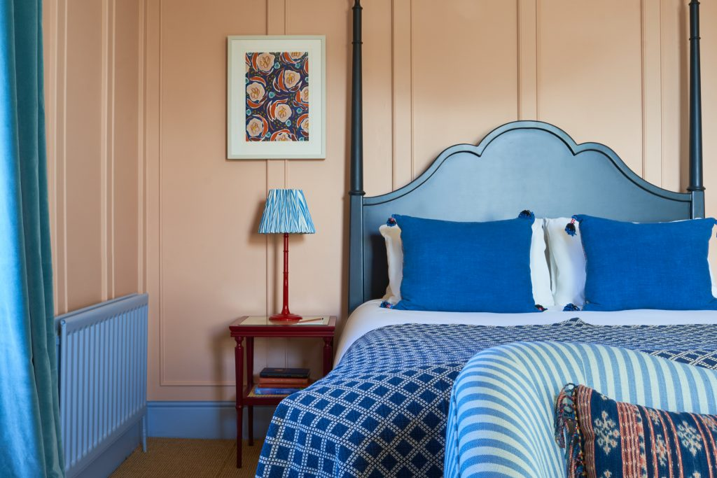The Mitre bedroom blue bed