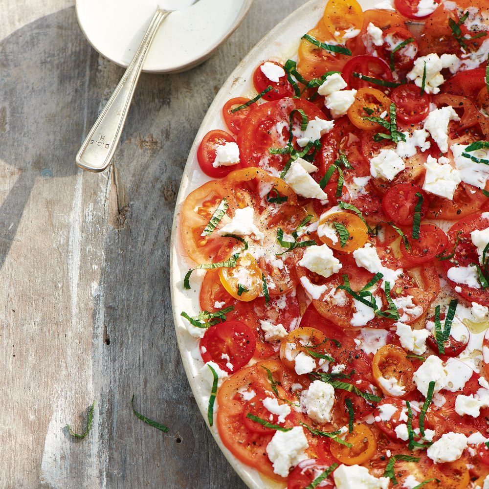 Carole Bamford's Tomatoes & Feta with Mint & Lemon Dressing