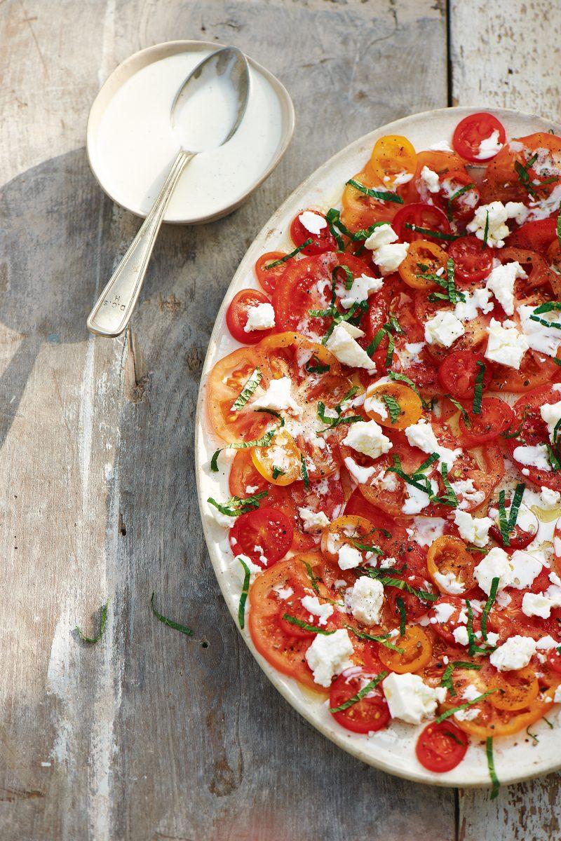 Carole Bamford Tomato Feta Salad A Love of Food