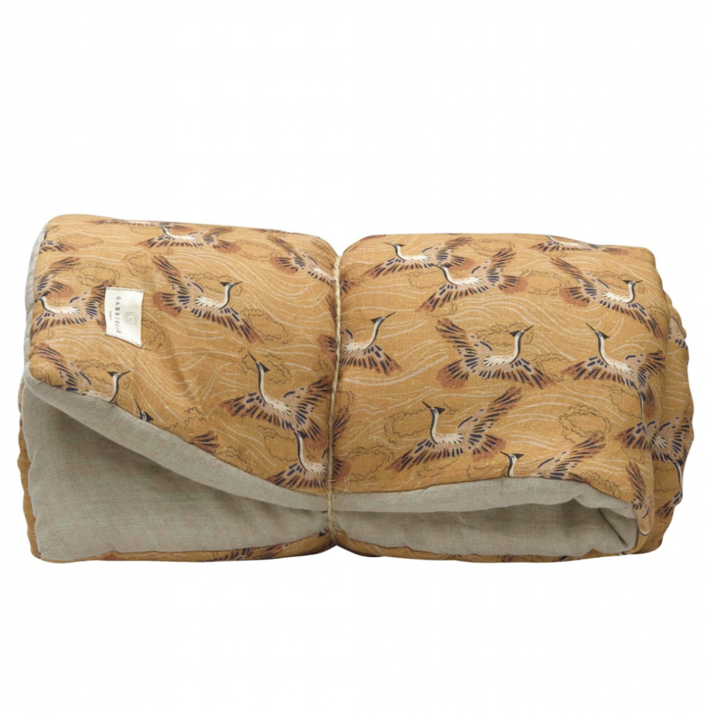 Gabrielle Paris Washed Linen Duvet Caramel, £147, Smallable