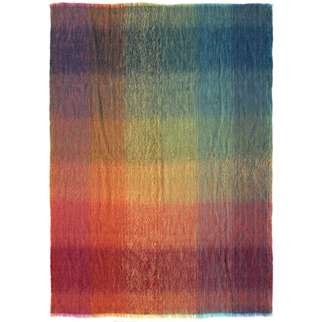 Mohair Prismatic Throw, £175, RA Shop
