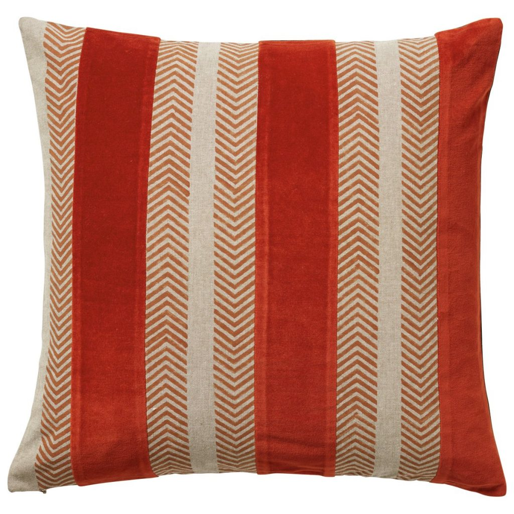 Valmiera cotton and velvet cushion, £60, Oka