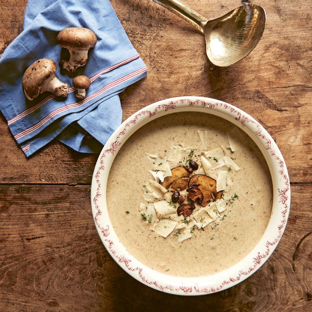 Mushroom and Parmesan Soup