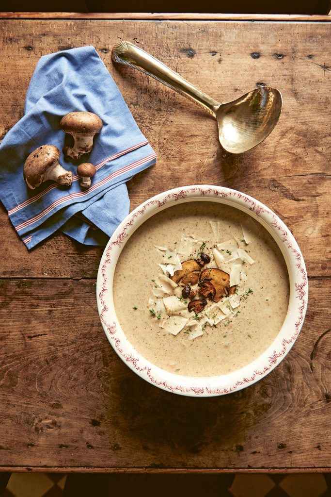 Mushroom and Parmesan Soup from Miss Maggie's Kitchen by Heloise Brion