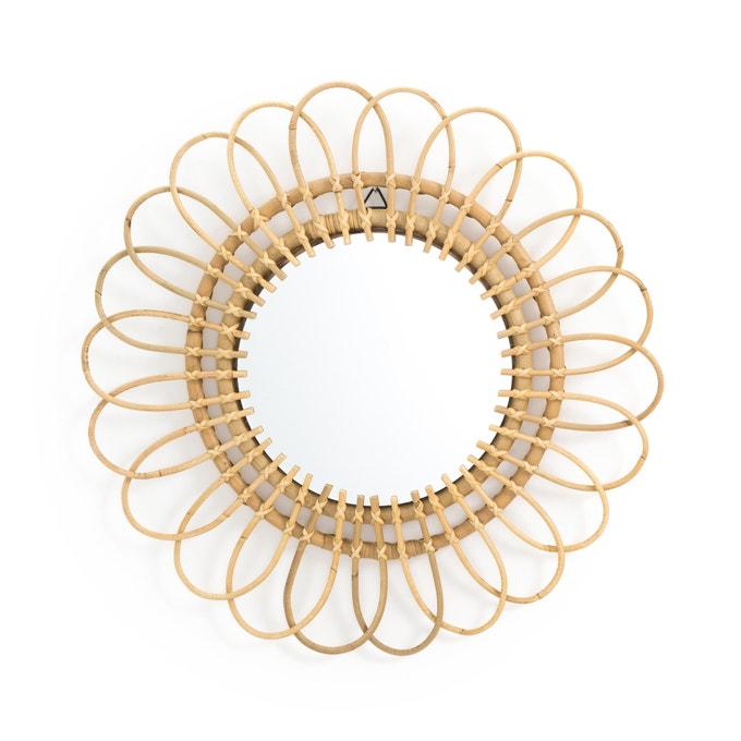 Nogu flower cane mirror, £42, La Redoute