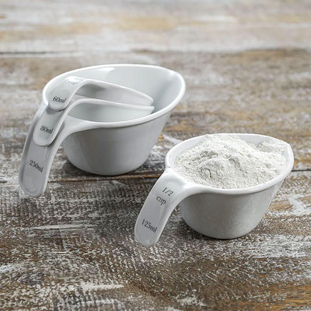 Rialto-Porcelain-Measuring-Cup-Set,-£12,-Garden-Trading