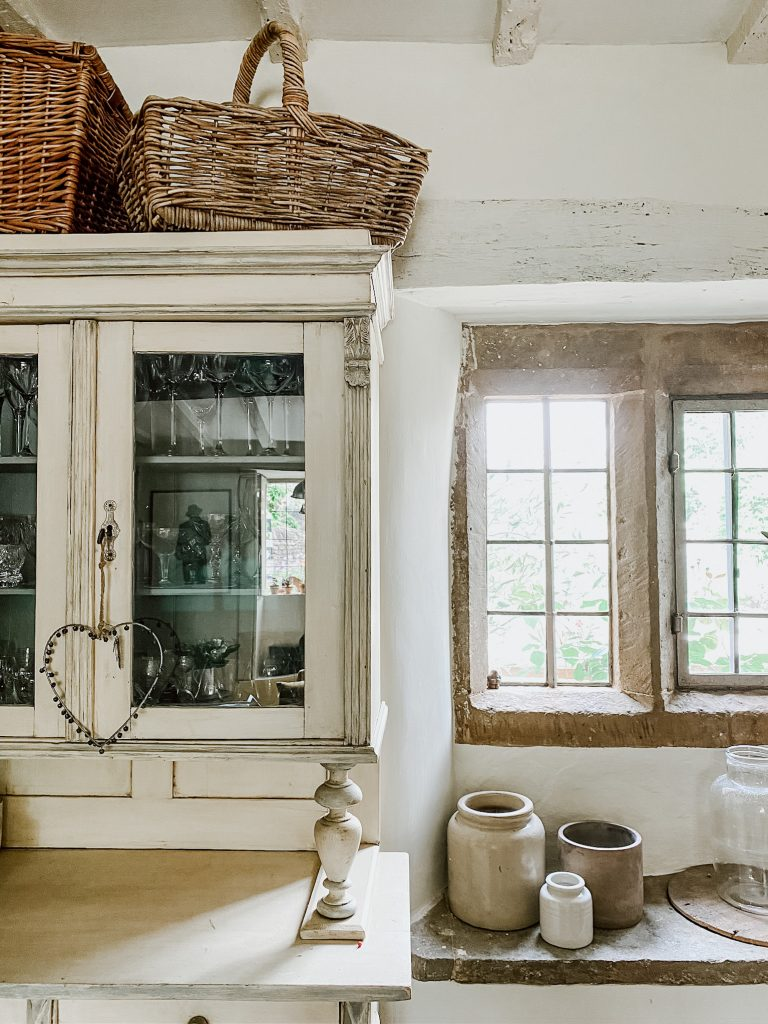 Kitchen window and vintage cupboards ©sisterhouses