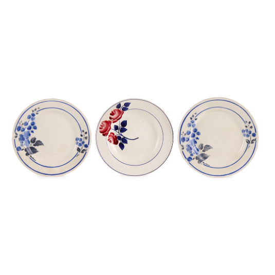 Trio of vintage wall plates, £65, Ceraudo