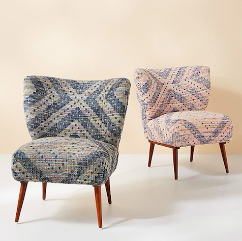Alaris rug printed chair Anthropologie