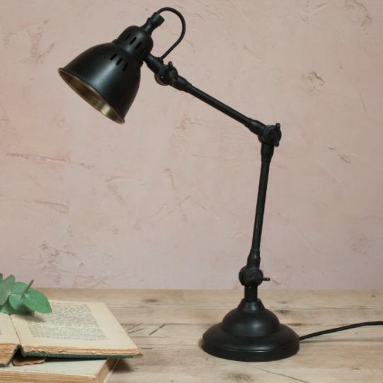 Tabu black desk lamp, £180, Nkuku