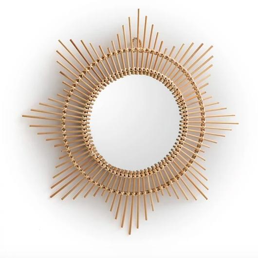 Nogu curved sunburst bamboo mirror, £28, La Redoute