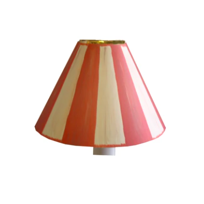 Swedish stripes candle shade in terracotta and white, £8.99, Frolic Lighting