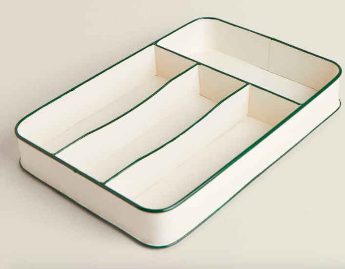 Enamelled cutlery tray, £25.99, Zara Home