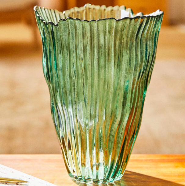 Textured glass vase, £29.99, Zara Home