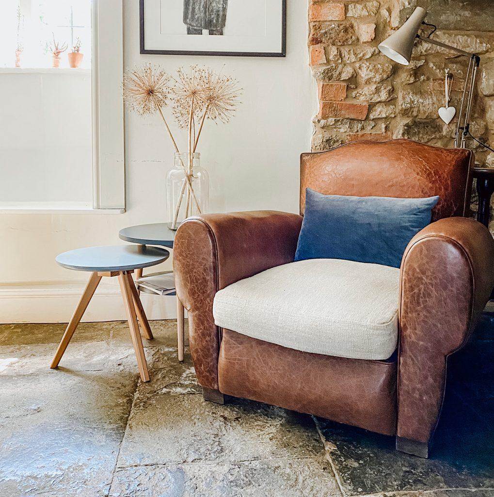 Sister Houses antique club chair