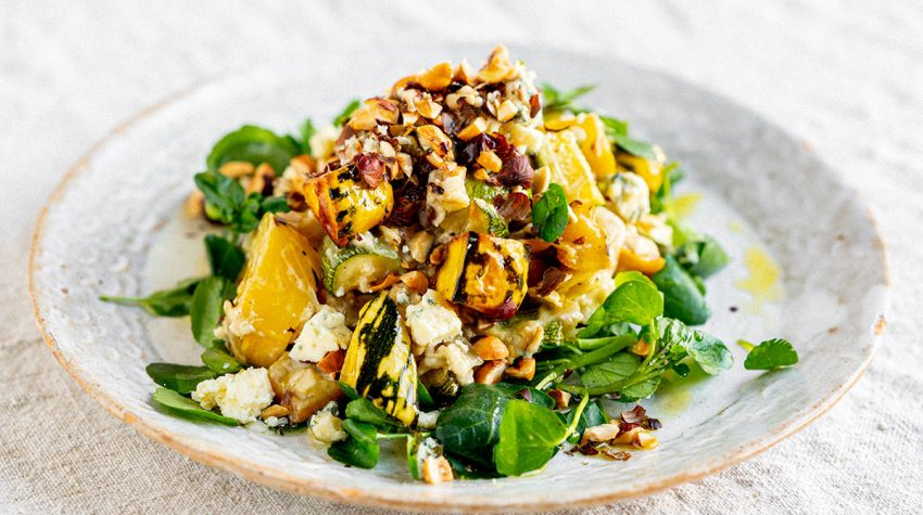 Harriet Mansell's Oats with Squash, Stilton and Hazelnuts