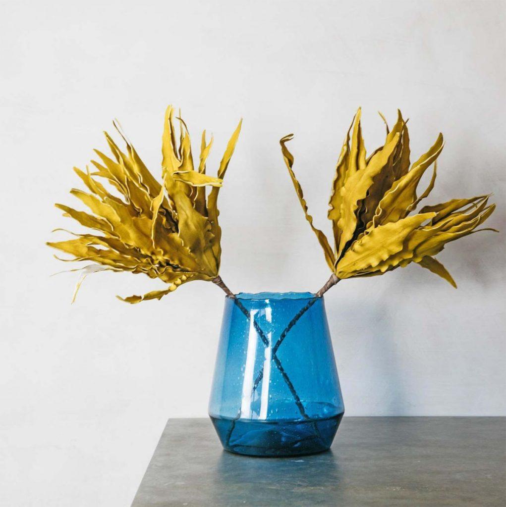 Blue-glass-vase,-£35,-Graham-and-Green