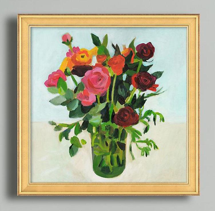Flowers-in-a-Vase-Wall-Art-by-Tali-Yalonetzki,-£198,-Anthropologie