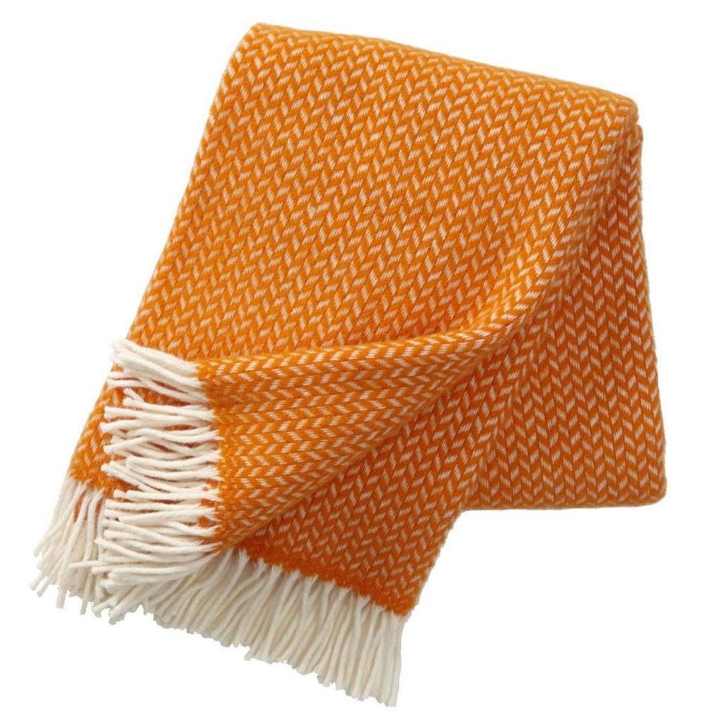 Orange-Polka-Wool-Throw,-£57,-Nordic-Nest