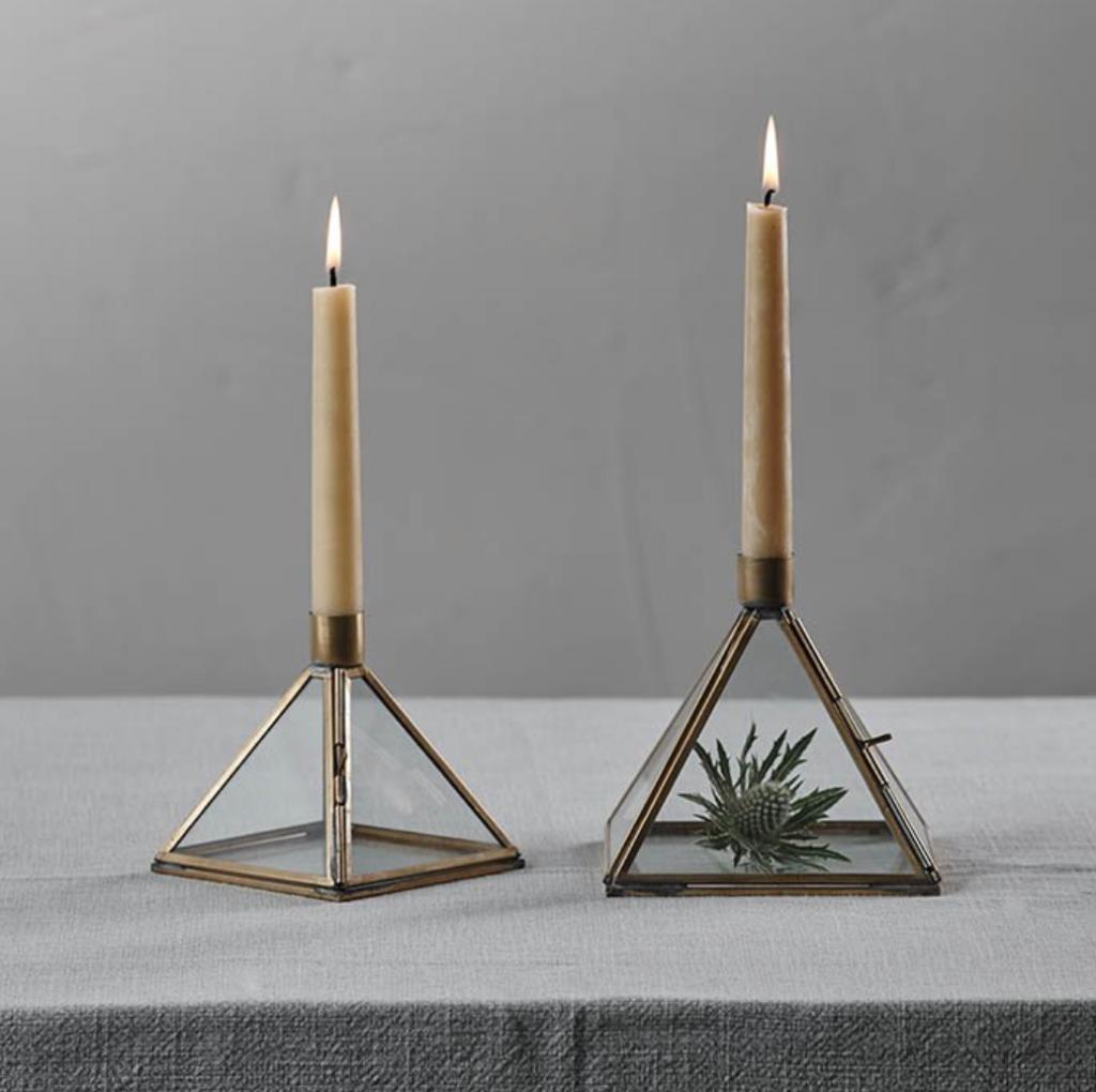 Bequai Display Pyramid Candlestick, £14.95, Nkuku