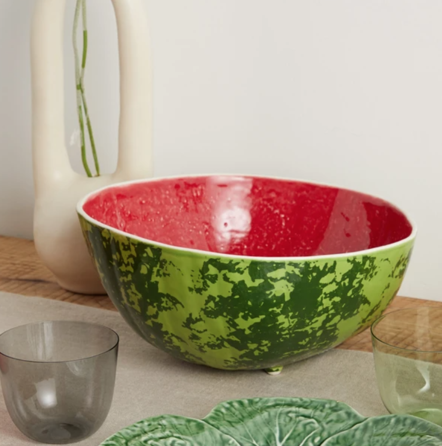 Bordallo Pinheiro Watermelon Earthenware Salad Bowl, £40, Matches Fashion