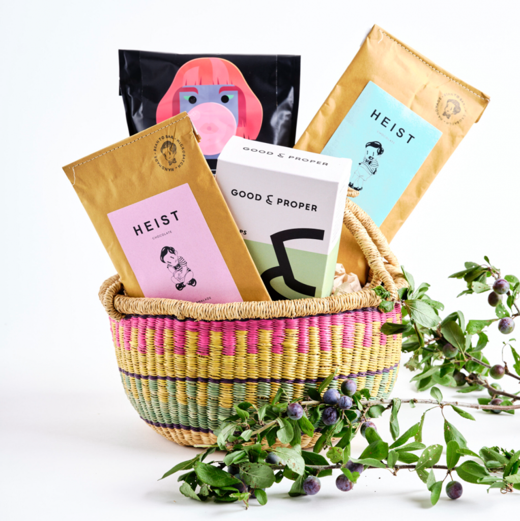 Chocolate Lovers Hamper filled with ethical products, £49, Grace Sisters
