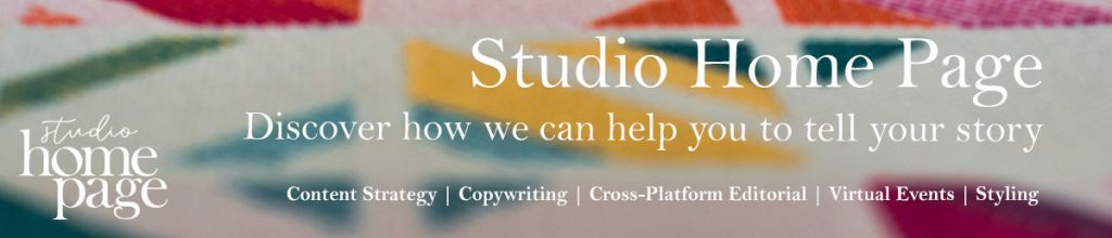 Studio Home Page banner ad - multicoloured