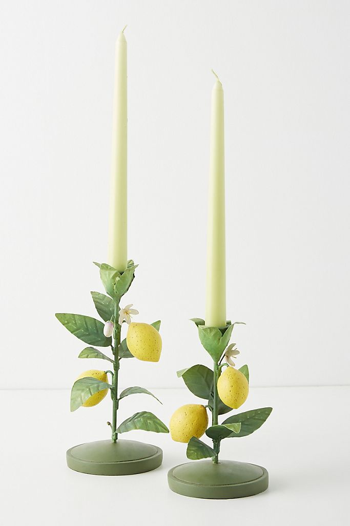 Lemon candle taper, Anthropologie