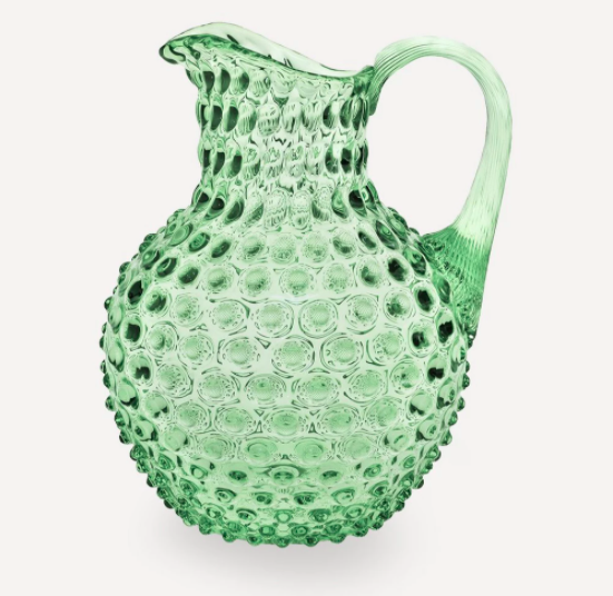 Klimchi large green glass jug, £95, Liberty