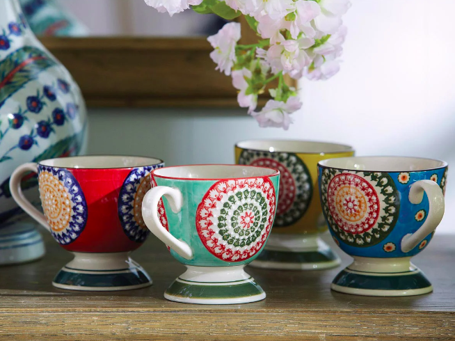 Florya set of 4 mugs, £50, OKA