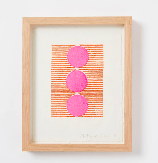 Framed cotton paper print, £65, Molly Mahon