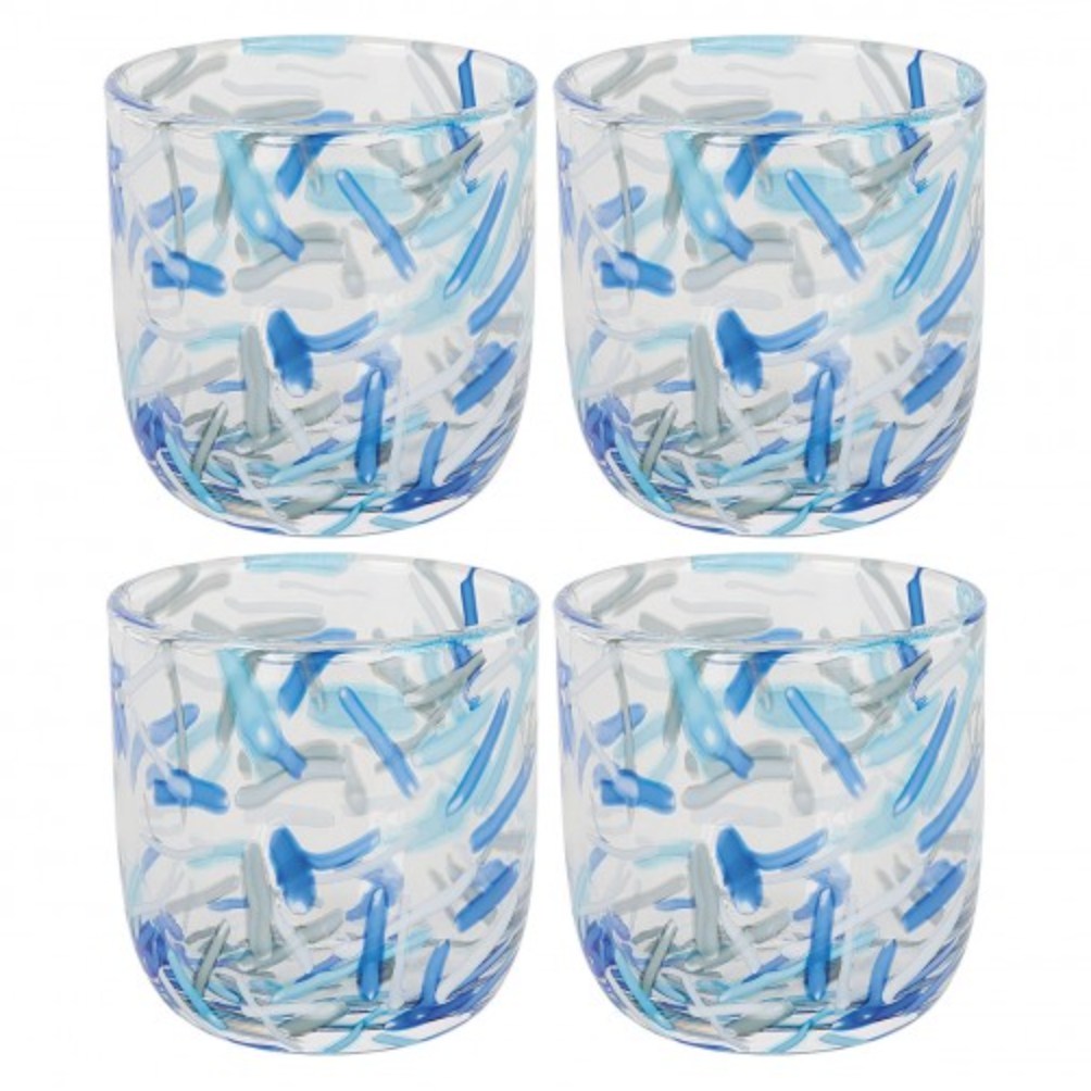 Sprinkles set of four glass tumblers, £32, Habitat